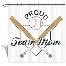 PROUD TEAM MOM Shower Curtain