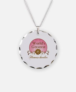 World's Greatest Homeschooler (For Moms) Necklace