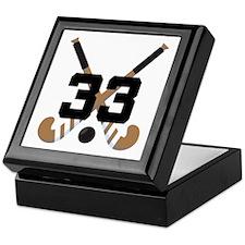 Field Hockey Number 33 Keepsake Box