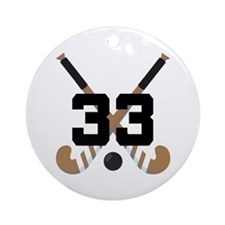 Field Hockey Number 33 Ornament (Round)