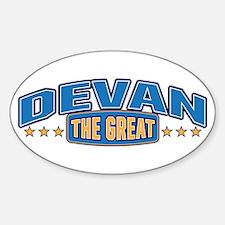 The Great Devan Decal