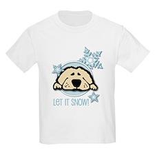 Let it Snow Golden Kids T-Shirt