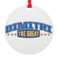 The Great Dimitri Ornament