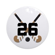 Field Hockey Number 26 Ornament (Round)