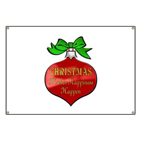 Red Christmas Ornament Banner by bestgiftsever
