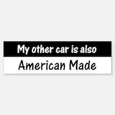 American Made Car Bumper Bumper Bumper Sticker