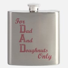 Dad and Doughnuts Flask