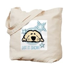 Let it Snow Golden Tote Bag