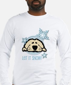 Let it Snow Golden Long Sleeve T-Shirt