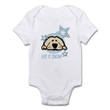 Let it Snow Golden Infant Bodysuit