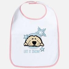 Let it Snow Golden Bib