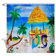 Mermaids Tiki Bar Shower Curtain