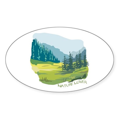 Nature Lover: Valley Oval Sticker