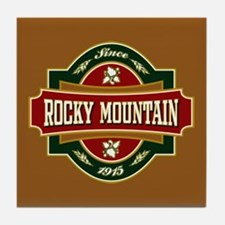 Rocky Mountain Old Label Tile Coaster