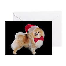 Santa Pom Christmas Cards (Pk of 20)