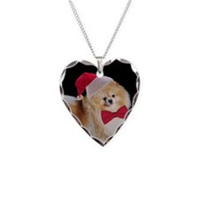 Santa Pom Necklace