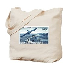1948 French Polynesia Seabird Postage Stamp Tote B