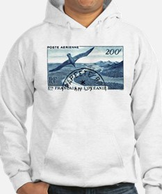 1948 French Polynesia Seabird Postage Stamp Hoodie