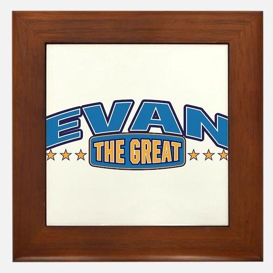 The Great Evan Framed Tile