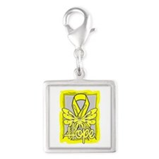 Suicide Prevention Hope Silver Square Charm