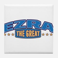 The Great Ezra Tile Coaster
