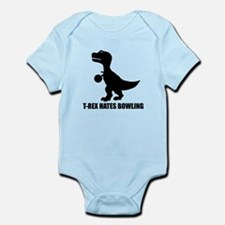 T-Rex Hates Bowling Infant Bodysuit
