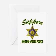 Moreno Valley Police Support Greeting Card