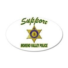 Moreno Valley Police Support Wall Decal