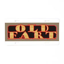 Old Fart Aluminum License Plate