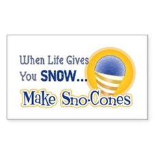 Make Sno-Cones Rectangle Decal