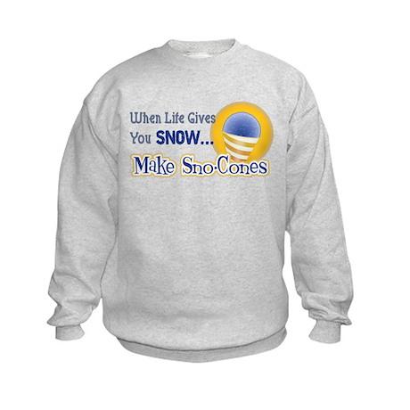 Make Sno-Cones Kids Sweatshirt