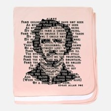 """ALONE"" Poe Poem baby blanket"