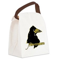Poe's Raven by Manet Canvas Lunch Bag