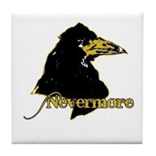 Poe's Raven by Manet Tile Coaster