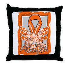 RSD Awareness Hope Butterfly Throw Pillow