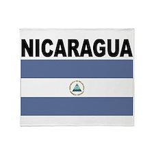 Nicaragua Flag Throw Blanket