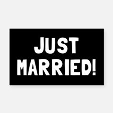 JUST MARRIED! Rectangle Car Magnet