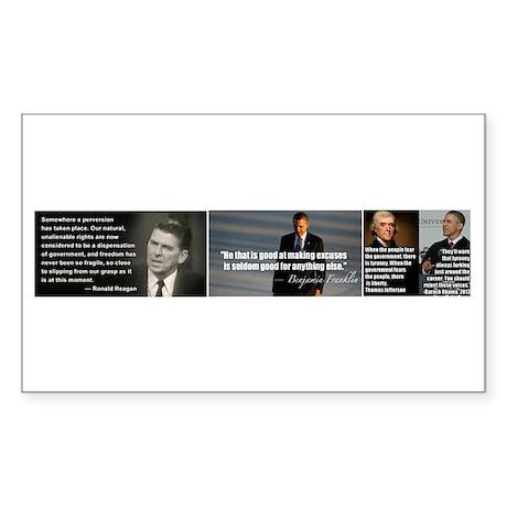 Presidential quotes vs Obama Sticker