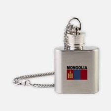 Mongolia Flag Flask Necklace