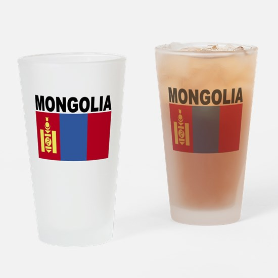 Mongolia Flag Drinking Glass