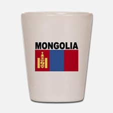 Mongolia Flag Shot Glass
