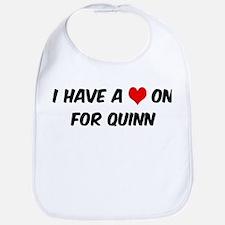 Heart on for Quinn Bib
