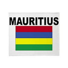 Mauritius Flag Throw Blanket