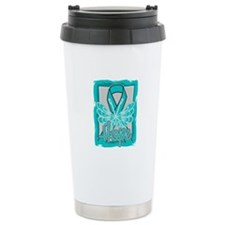 PCOS Hope Butterfly Shirts Travel Mug
