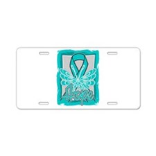 PCOS Hope Butterfly Shirts Aluminum License Plate