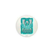 PCOS Hope Butterfly Shirts Mini Button (10 pack)