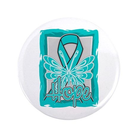 """PCOS Hope Butterfly Shirts 3.5"""" Button"""