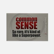 Common Sense Rectangle Magnet