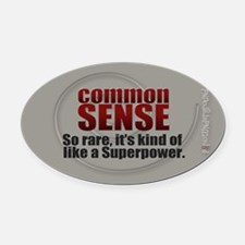 Common Sense Oval Car Magnet