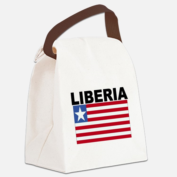 Liberia Flag Canvas Lunch Bag